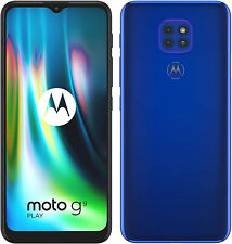 "Nuevo Motorola Moto G9 Azul 6.5"" 64GB de doble SIM Play Andriod 10 desbloqueado Sim Gratis"