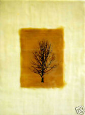 painting beeswax encaustic tree landscape gold brown