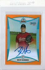 08 Bowman Chrome Bud Norris Auto RC 09/25 Bundle of 6