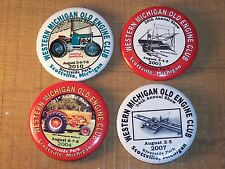 4 Pin Back West Michigan Old Engine Club Show BUTTONS Doodly Bug & More