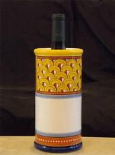 "Bellezza ""Elena"" Ceramic Wine Holder Fratelii Mari Deruta Italy Handpainted $145"