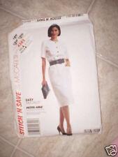 Vintage McCalls Pattern Dress 4282 8 10 12 SEWING UNCUT