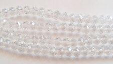 20 Abacus Faceted Cristal Perles De Verre-cristal clair - 10 mm x 7 mm