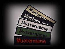 Namensschild bestickt *10,5 x 2 cm *Aufnäher Name * Patch Namenschild neu