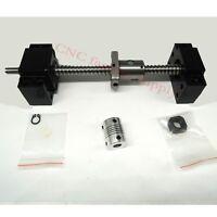 SFU1204Set lead screw ball screw antibacklash ballscrew 1204-800mm-C7+BK/BF10