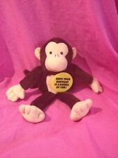 Monkey Plush Happy Birthday Vintage American Greetings Stuffed Animal 1981 Toy