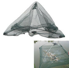Folded Fishing Net Fish Crab Shrimp Minnow Baits Cast Dip Trap Mesh Umbrella 31""