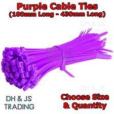 Purple Nylon Cable Ties - Plastic Zip Tie Wraps Cable Tie Small Large Coloured