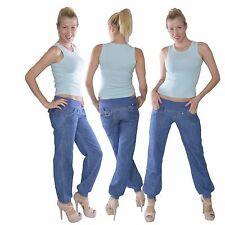 421 Damen Jeans Baggy Hüftjeans Harem Chino Aladin Boyfriend Pump Hose Gr.34-44
