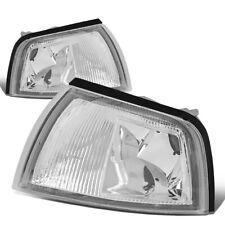 Fit 1997-2002 Mitsubishi Mirage 2Dr Front Bumper Corner Light Turn Signal Lamps