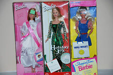 BARBIE CLASS OF 2002, HOLIDAY JOY BARBIE DOLL AND SHOPPING TIME BARBIE WAL-MART