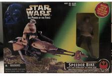 Star Wars POTF - Speeder Bike w/Luke Skywalker Endor Gear - MIB - Mint