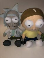 """Rick and Morty 10"""" Plush Lot Of 2 Official License Toy Factory NWT"""