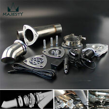 "2.25"" Exhaust Catback Downpipe Cutout E-Cut Out Valve System+Remote Electric kit"