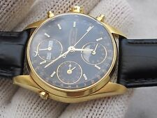 EBERHARD NAVY MASTER 30030-C CHRONOGRAPH 1887-1987 AUTOMATIC SOLID GOLD18K SWISS