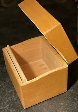 Vintage Peters Artist Wood Products Index Recipe Card Filing Box Dovetail 1966