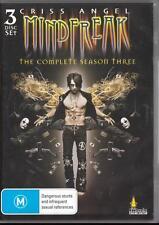 CRISS ANGEL MINDFREAK SEASON 3 -  NEW & SEALED R4 DVD 3 DISCS FREE LOCAL POST