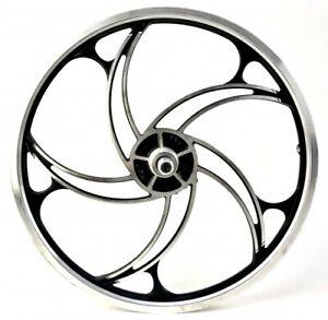 20 Inches Alloy Rims Back Wheel 5 Spokes Hurricane Freewheel Deore Disc
