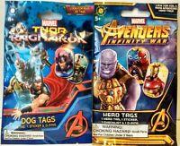 """Thor: Ragnarok"" & ""Avengers: Infinity War"" Marvel Dog Tags Blind Bag Lot Of 2"