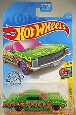 2019 Hot Wheels #217 HW Art Cars '64 BUICK RIVIERA Green w/Purple Skull Spokes