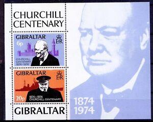 Churchill, Nobel Peace, Gibraltar 1974 MNH SS