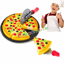 Children/kids Kitchen Pizza Party Fast Food Slices Cutting Pretend Play Food Toy