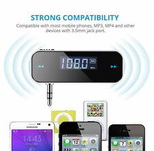 Wireless FM Transmitter Car Aux MP3 Music Player  iPhone 6 5 4 SE iPod Touch New