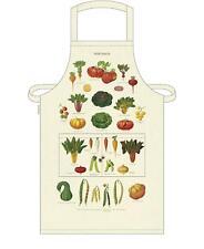 Cavallini - 100% Coton Naturel Vintage Tablier - 48x80cms - Légumes