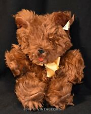 "CHARACTER Novelty Plush VTG Stuffed Soft Toy - Little Brown Bear Sits at 8"" tall"