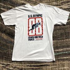 Mens Vintage 80s Logo 7 1988 U.S Track and Field Olympic Trails T Shirt Tee Sz L