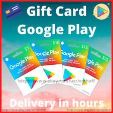 GIFT CARDS GOOGLE PLAY 🔥 $5 - $10 USD 🔥 ¡Delivery in HOURS!