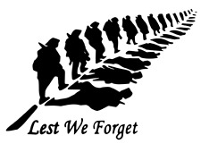 Lest We Forget Leaf Heroes Soldier/Military/Charity Car/Van Sticker Vinyl Decal