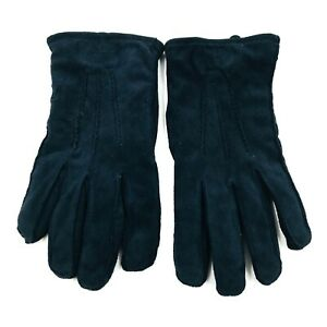 GANT Black Suede Leather Gloves Size S