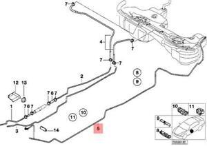 Genuine BMW E46 Cabrio Fuel Pipe/Mounting Scavenge Air Line OEM 16111184135