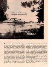 1961 DODGE ~ ORIGINAL 2-PAGE NEW CAR PREVIEW ARTICLE / AD