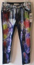 NWT Guess Kids Big Girls Skinny Paint Splatter Jeans 14 Dark Stone MSRP$50