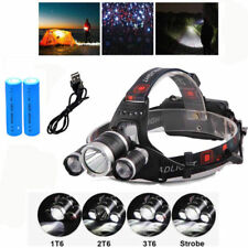 3x XML T6 LED 12000 LM Lumens Bright Rechargeable Head Torch Headlamp Lamp Light