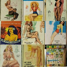 PINUPS Sexy WOMEN FEMALE ART Drawings VINTAGE 1930s Matchbook DRAWINGS Sexy GIRL