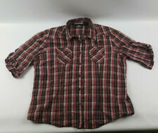 Harley Davidson Plaid womens XXL Button shirt embroidered logos - Preowned