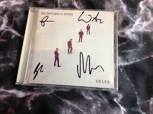 MUMFORD AND SONS SIGNED CD ALBUM DELTA MARCUS MUMFORD IDEAL XMAS GIFT