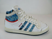 Men's Adidas Top Ten High Top Basketball Sneakers Sz 9.5 Tie Dye Blue White
