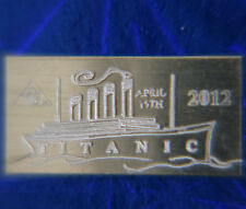 x10 ACB Titanic Limited Edition 2012 Anniversary 1 GRAM 999 SILVER Bars <