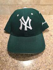 Vintage Baseball Hat New York Yankees MLB Green White Embriodered Velcro Cap