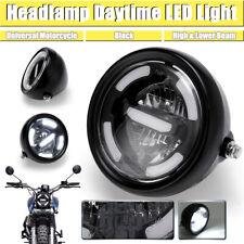 Moto Proiettore LED Faro Anteriore Cromato 7.5 Pollici per Cafe Racer Retro Progetto di Personalizzazione