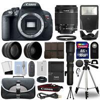 Canon T5i / 700D DSLR Camera+ 4 Lens 18-55mm IS STM + 500mm + 16GB Telephoto Kit