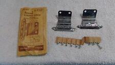"Vintage 1950's Amerock Cabinet Hinge Set E7645 Chrome NOS For 3/4"" Flush Doors"