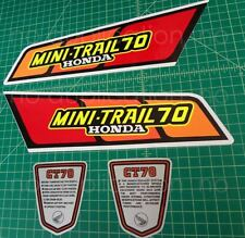 1979 79' honda CT-70 CT70 4pc Vintage Frame decals, stickers, graphics