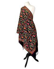 Luxurious Hand Embroidered 100% Kashmiri Multi Shawl-Scarf-Stole-Wrap-Hijab