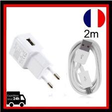 Câble Micro USB 2m Chargeur Adaptive chargeurs  Samsung Galaxy S7 Téléphones