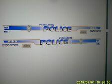 Pearisburg Virginia   Police   Vehicle  Decals 1:24  Custom